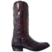 Load image into Gallery viewer, Men's Dan Post Black Cherry Bellevue Ostrich Leg Boots