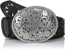 Load image into Gallery viewer, Women's Tony Lama Black Pieced Filigree Belt