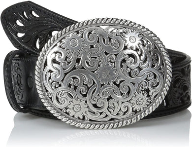 Women's Tony Lama Black Pieced Filigree Belt