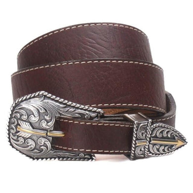 Men's Justin Brown Broken Arrow Belt