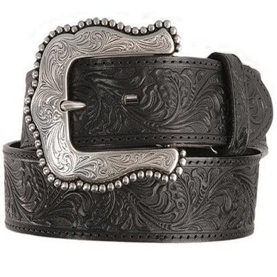 Women's Tony Lama Black Layla Belt