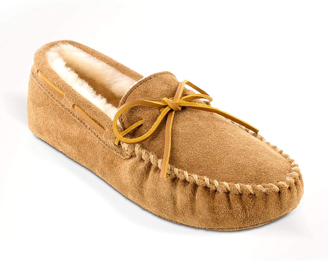 Men's Minnetonka Tan Sheepskin Softsole Moccasin