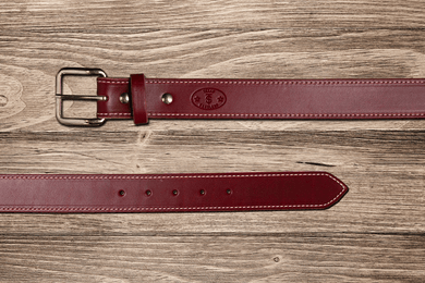 Men's Texas Saddlery Burgundy Latigo Belt