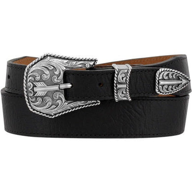 Men's Justin Black Broken Arrow Belt
