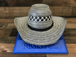 Resistol Black Straw Hat