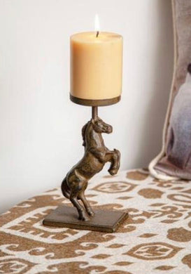 Metal Horse Candle Holder