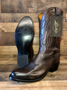 Men's Lucchese Antique Walnut Lone Star Calf R-Toe Boots