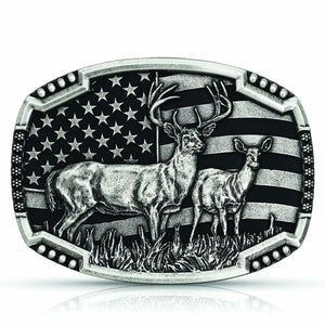 Montana Silversmiths Matched Pair Deer Attitude Buckle