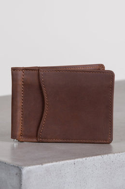 Brighton Leather Vanderbilt Money Clip Wallet