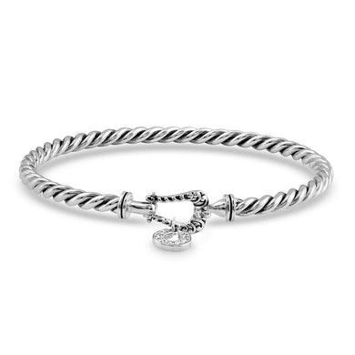 Montana Silversmiths Buckled Luck Bangle Bracelet