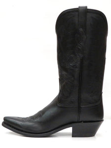 Women's Old West Black Snip Toe Cowgirl Boots