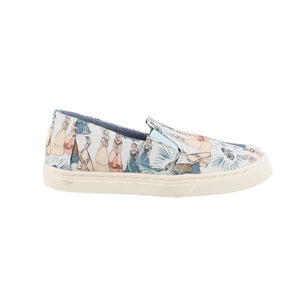 Tom's Youth Luca Blue Cinderella Printed Canvas Shoes