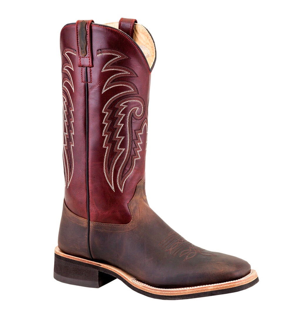 Men's Old West Crepe Broad Square Toe Boots