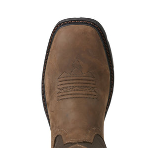 Men's Ariat Groundbreaker H2O Brown Bomber Work Boots