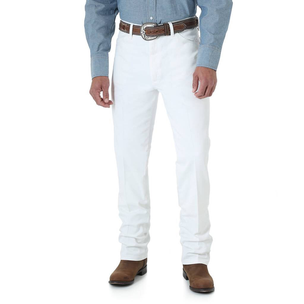 Men's Wrangler White Cowboy Cut Slim Fit Jeans