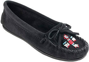 Women's Minnetonka Thunderbird II Black Moccasin