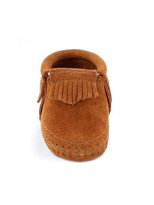 Minnetonka Riley Bootie Brown Baby Moccasins