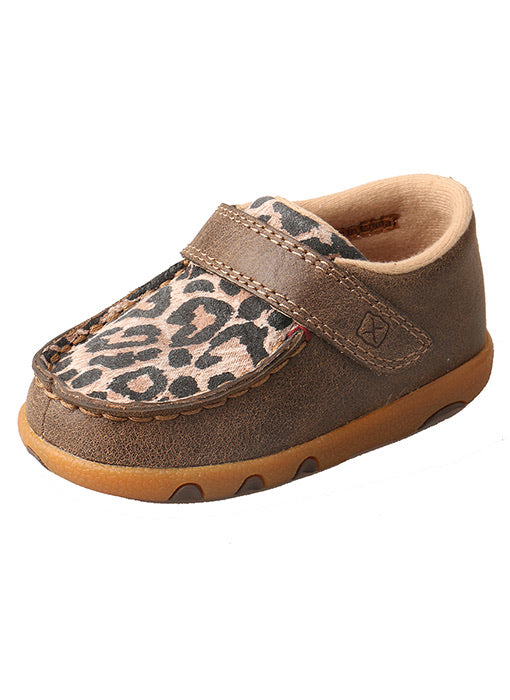 Infant Twisted X Leopard Bomber Driving Mocs