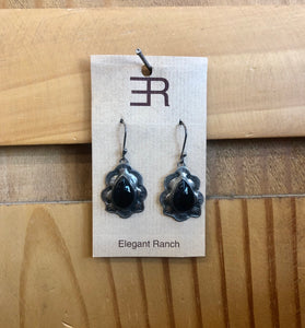 Elegant Ranch Onyx Tear Drop Earring