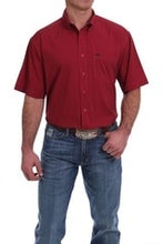 Load image into Gallery viewer, Men's Cinch Short Sleeve Arenaflex Red Geometric Print