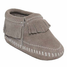 Load image into Gallery viewer, Minnetonka Riley Bootie Grey Baby Moccasins