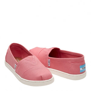 Tom's Youth Classic Bubblegum Pink Canvas Shoe
