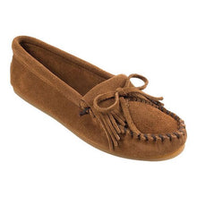 Load image into Gallery viewer, Women's Minnetonka Kilty Brown Moccasins