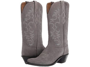 Women's Old West Grey Suede Boots