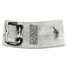 Load image into Gallery viewer, Montana Silversmiths Stand Behind The Blue Line Flag Attitude Buckle