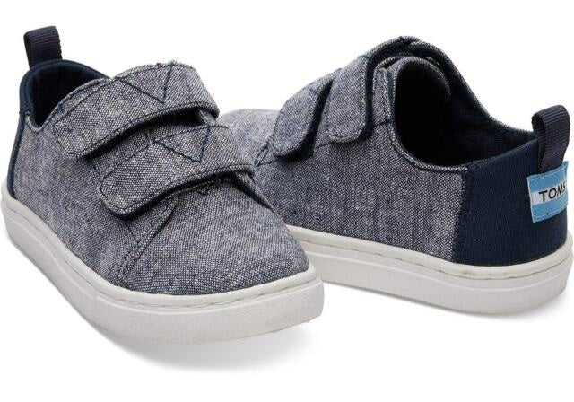 Tom's Tiny Lenny Navy Slub Chambray Sneaker