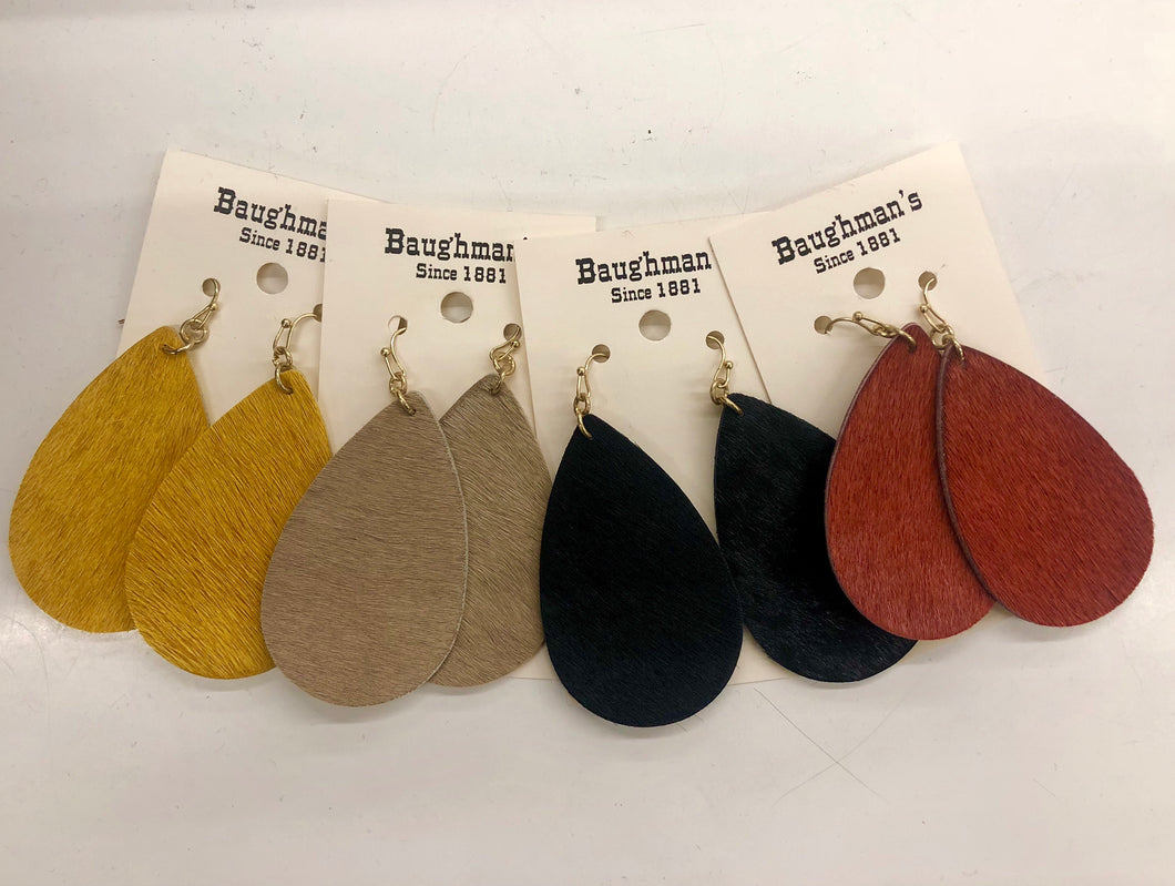 Women's Leather Hide Earrings