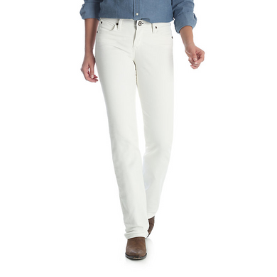 Women's Wrangler Q-Baby White Ultimate Riding Jeans