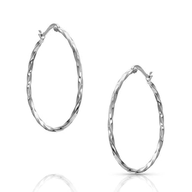 Montana Silversmiths Cut Rope Hoop Earrings