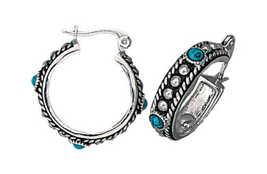 Montana Silversmiths Turquoise Stud Hoop Earrings