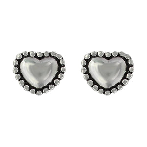 Montana Silversmiths Beaded Puffy Heart Stud Earrings