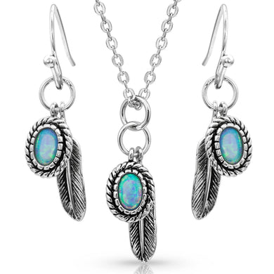 Montana Silversmiths Wishing on Hope Opal Jewelry Set