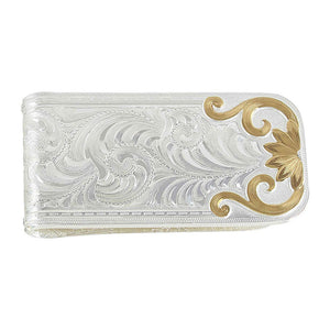 Montana Silversmiths Two-Tone Bitterroot Flourish Money Clip