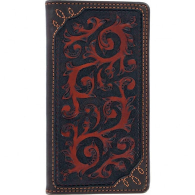 Silver Creek Tulsa Vine Tooled Leather Wallet