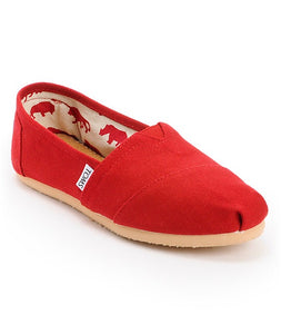 Women's Toms Classic Red Canvas