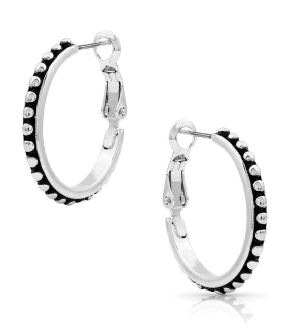 Montana Silversmiths Classic Pinpoint Hoop Earrings