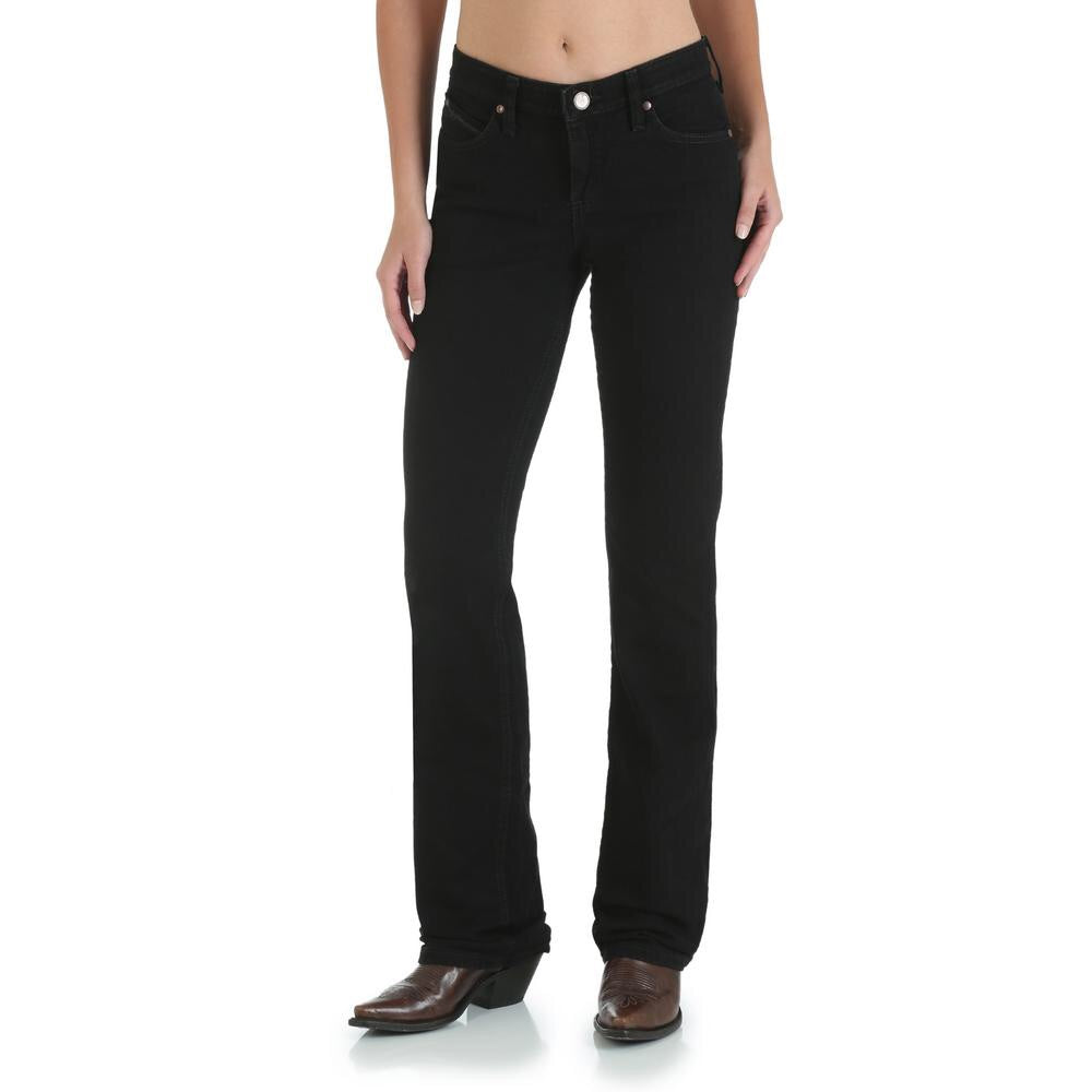 Women's Wrangler Q-Baby Black Ultimate Riding Jeans