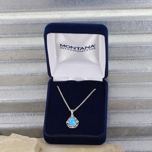 Montana Silversmiths Opal Teardrop Necklace