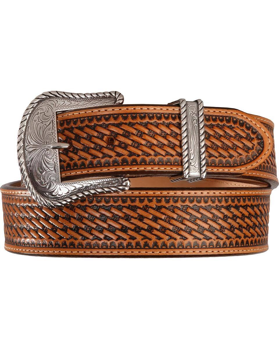 Men's Justin Bronco Basket Weave Belt