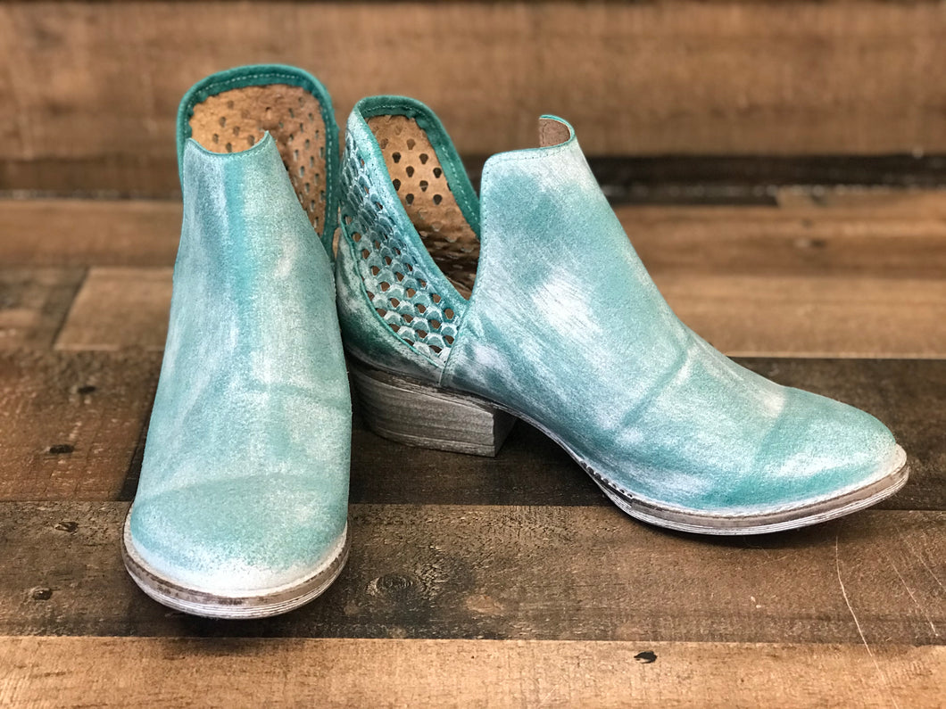 Circle G Q5026 Turquoise Bootie