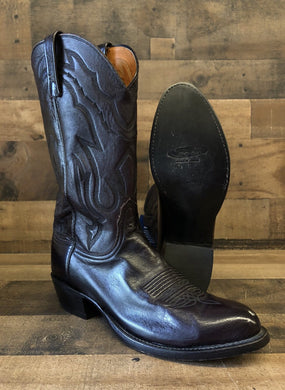 Men's Lucchese Black Cherry Lone Star Calf Cowboy Boots