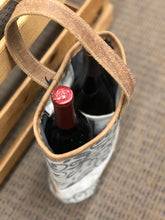 Load image into Gallery viewer, Myra Wine Bottle Carrier Canvas/Cowhide