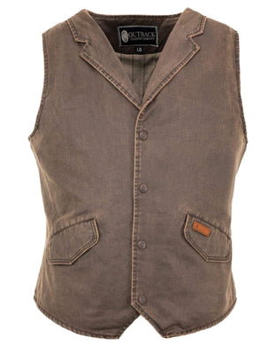Men's Outback Brown Arkansas Vest