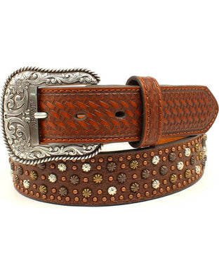 Women's Ariat Studded Basketweave Belt