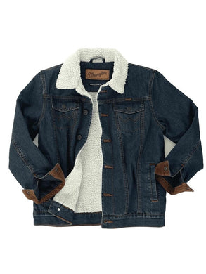 Boy's Wrangler Sherpa-Lined Denim Jacket