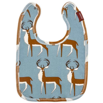 Baby Milkbarn Organic Cotton Blue Buck Traditional Bib